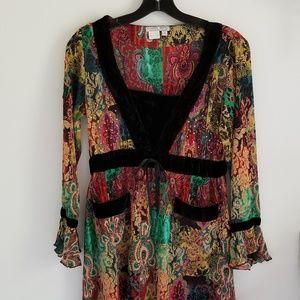 Alberto Mikali multi color embellished tunic top M